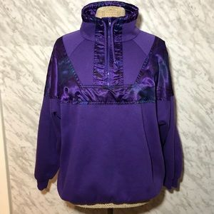 Vtg Lady Footlocker Pullover Purple Size Medium